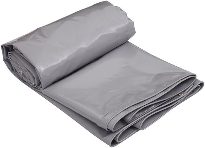 LIYFF- Baches Résistantes imperméables UV de Bache Résistante aux Usages Multiples de Bache pour Le Camping et l'extérieur 650g m2 - gris