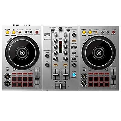 Pioneer DJ DDJ-400-S 2-Channel DJ Controller for Rekordbox DJ, Silver by Pioneer DJ