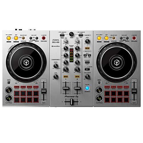 Pioneer DJ DDJ-400-S 2-Channel DJ Controller for Rekordbox DJ, Silver