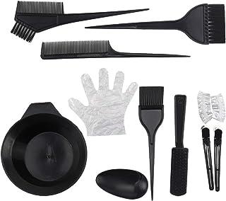 OSALADI 11pcs Hair Color Brush Hair Dye Brush and Bowl Set Professional Coloring Applicator Tool Kit DIY Hair Bleach Tinting Brushes Tool