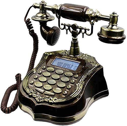 AWAING Telefonos Antiguos Vintage Resina Imitación Cobre Estilo Vintage Giratorio Retro Antiguo Dial Giratorio Hogar y Oficina Teléfono Teléfono Hogar Sala de Estar Decoración