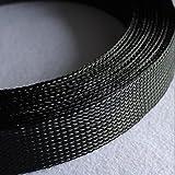 14 mm, 16 mm, 18 mm, 20 mm, 25 mm, 30 mm, 35 mm, 40 mm, 60 mm, 100 mm, color negro, cable expandible trenzado, cable de nailon de piel de serpiente, funda de 20 mm, 10 m