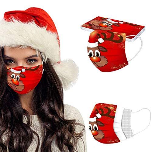 Herren Damen 10/20/50 Stück 3D Cartoon Druck Maske Weihnachts Print Atmungsaktive Baumwolle Mund-Nasenschutz Bandana Halstuch Maske Mund und nasenschutz