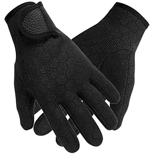 1.5 MM Wetsuit Gloves Neoprene Scuba Diving Gloves for Men Women Full Finger Snorkel Gloves for Diving Snorkeling Kayaking Surfing Water Sports Non-Slip Wear-Resistant Winter Swimming Gloves