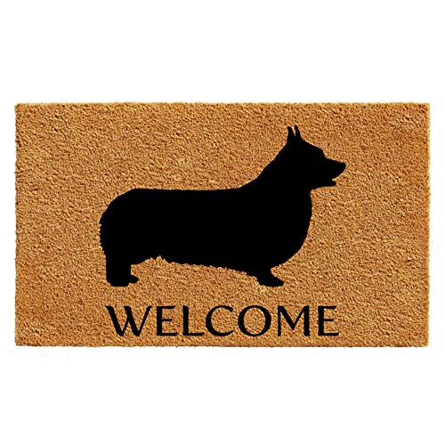 Calloway Mills AZ105612436 Pembroke Welsh Corgi Doormat 24' x 36', Natural/Black