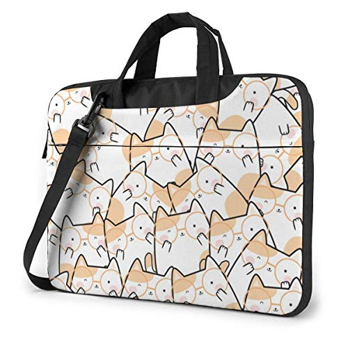 Kawaii Cute Cats Fashion Laptop Case Laptop Shoulder Messenger Bag Sleeve for 15.6 Inch