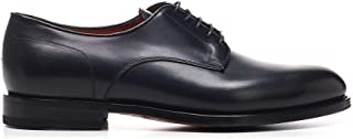 Luxury Fashion | Santoni Men MCCO14272JJ1IOBRU59 Blue Leather Lace-up Shoes | Spring-summer 20