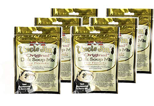 Pack of 6 - Uncle Jim's Original DUK Soup Mix by Marshall - Ferret Food Supplement and Dietary Aid