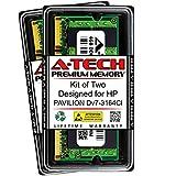 A-Tech 8GB (2 x 4GB) RAM for HP Pavilion DV7-3164CL | DDR2 800MHz SODIMM PC2-6400 200-Pin Non-ECC Memory Upgrade Kit