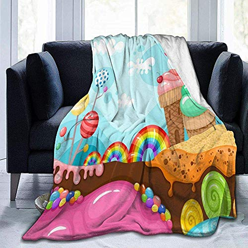 K.e.n Candy Vector afbeelding deken Premium microvezel fleece deken gezellig warm bed deken bank decoratieve