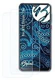 Bruni Schutzfolie kompatibel mit HTC Desire 19+ Folie, glasklare Bildschirmschutzfolie (2X)