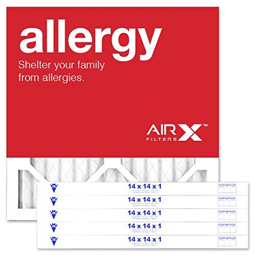 AIRx ALLERGY 16x16x1 MERV 11 Pleated Air Filter - Made in the USA - Box of 6