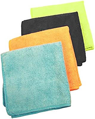 Skywalk Microfibre Cleaning Cloths for Home, Kitchen , Cars, Furniture (Standard Size, Multicolour)