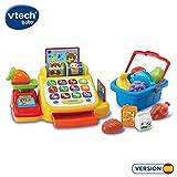 VTech Baby–Ma première Caisse enregistreuse interactif éducatif, 12Accessoires Supermarché Qui renforce aspects éducatifs: Langage, Derrière la et développement sensoriel (Vtech 3480–191322)