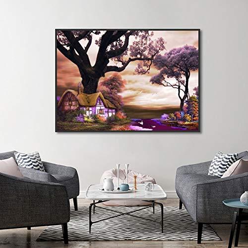 tzxdbh Moderne décoration de la Maison Image Coon Pays paysage HD Impression Toile mur affiche peinture pour Chambre ckground