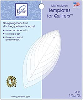 June Tailor Mix'n Match Templates for Quilters 6/Pkg-Leaf