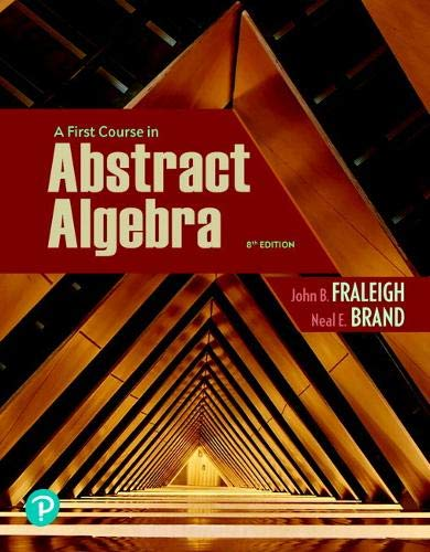 Pearson eText for First Course in Abstract Algebra, A -- Access Card (8th Edition)
