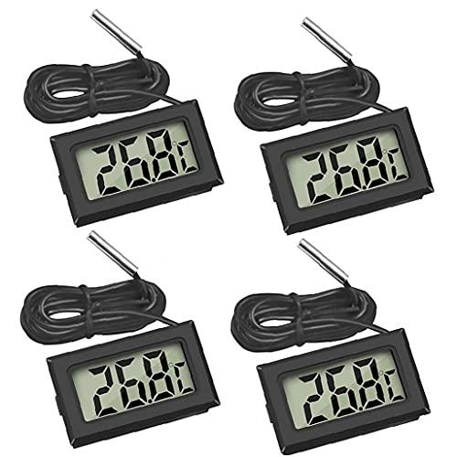 Digital LCD Termómetro del acuario Frigorífico Humedad Medidor de temperatura de la sonda de medición 4PCS rápida velocidad