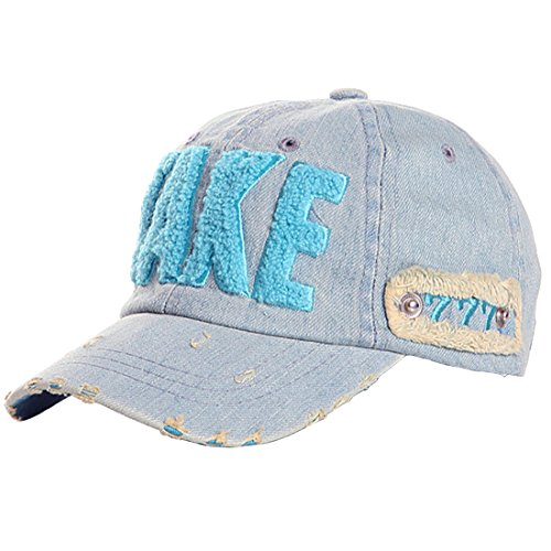 Kuyou Distressed Baby Kids Kappe Hut Kinder Sport Mütze Berets Cap (Medium, Blau)