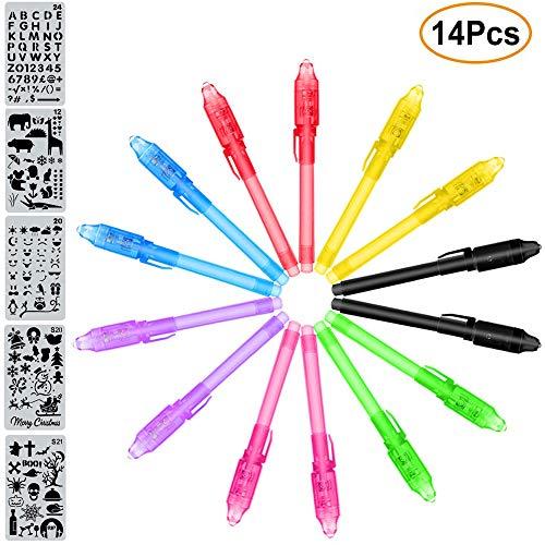 MonQi 14 Pièces Crayons à Encre Invisible avec lumière UV +