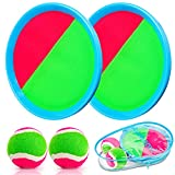 Toss and Catch Ball Game Outdoor Game for Kids Backyard Games Beach Game for Kids(Upgraded) (2 Paddles 2 Balls)