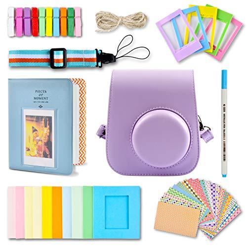 Funda y accesorios compatibles con cámara Fujifilm Instax Mini 11 Instant Polaroid,...