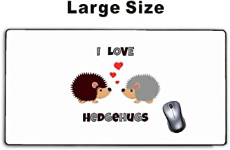 Mousepp - Large Gaming Mouse Pad,Extended Mousepad with Non-Slip Rubber Base for Laptop Computer Desktop Keyboard,Stitched Edges Mat - i love hedgehugs hedgehog