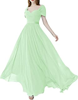 Chiffon Long Bridesmaid Dressess Maxi Evening Prom Dress Sweetheart Wedding Formal Party Gowns