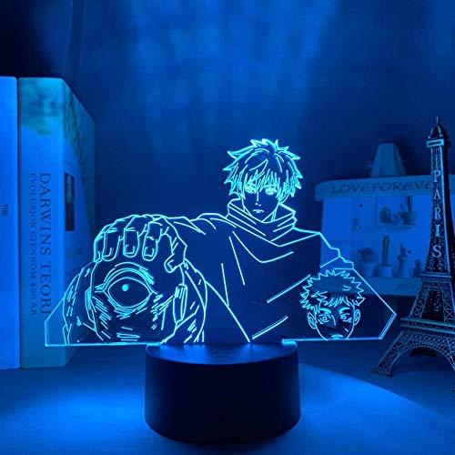 3D ilusión lámpara de mesa Estado de ánimo noche luz satoru gojo Jogo Jujutsu Kaisen Yuji itadori para cumpleaños Yuji itatori-16 colores con control remoto