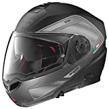 Nolan N104 ABSOLUTE TECH Klapphelm Motorrad Polycarbonat n-com - matt schwarz Größe S