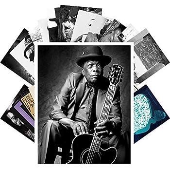 Postcard Set 24 cards JOHN LEE HOOKER Blues Music Posters Photos Vintage Magazine covers