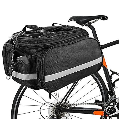 DASIAUTOEM Alforjas para bicicleta trasera multifunción, bolsas de sillín para bicicleta MTB impermeables de gran capacidad, bolsas laterales para bicicleta de montaña, deporte y fitness