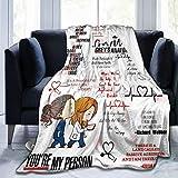 Scroll sport Grey's Anatomy Coperta Coperta in Pile Super Morbida per Biancheria da Letto Divano Coperte per Camera da Letto Soggiorno in Viaggio 60 X 50 Pollici