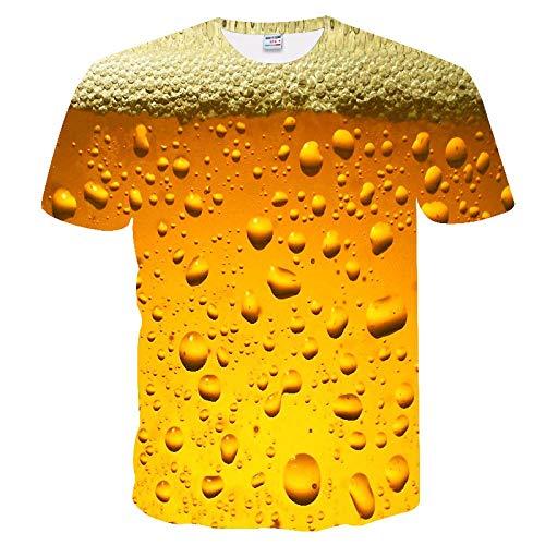Neue 3D-Wasser-Tropfen-Digital Printing Short Sleeve-Paar-T-Shirt Männer Sommer-T-Shirt-zufällige Spitze Kansa (Color : TX-238, Size : M)