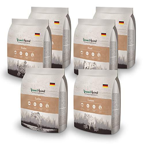 Venandi Animal Premium Trockenfutter für Katzen, Probierpaket 1, 6 x 0.3 kg, getreidefrei mit viel frischem Fleisch und Fisch, 1.8 kg