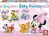 Educa- Baby Minnie Mouse 5 Puzzles Orogresivos de 3 a 5 Piezas, Multicolor (15612)