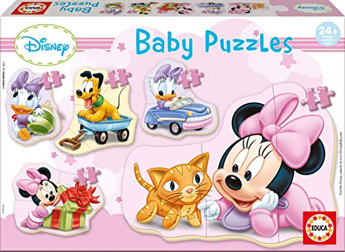 Educa - Baby Minnie Mouse 5 Puzzles Orogresivos de 3 a 5 Piezas, Multicolor (15612)