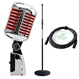 Pronomic DM-66R Elvis microphone dynamique rouge SET