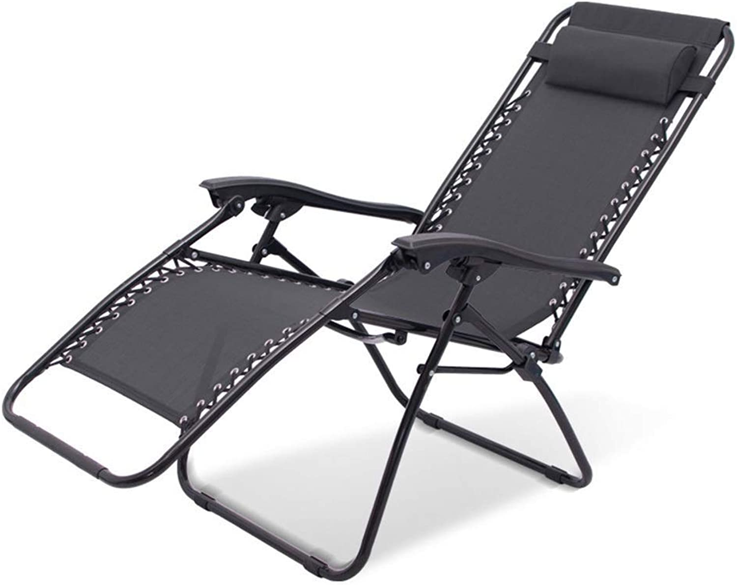 Zero Gravity Patio Lounger Chair Folding Garden Chair Outdoor Recliners Beach Camping Portable Chair with Neck Pillow Support 200kg