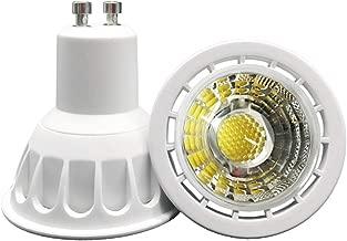YAYZA! 2-Pack Premium MR16 GU10 6W Dimmable Mains AC LED Spotlight COB Light Bulb 60 Degrees Wide Beam Lamp Colour Green