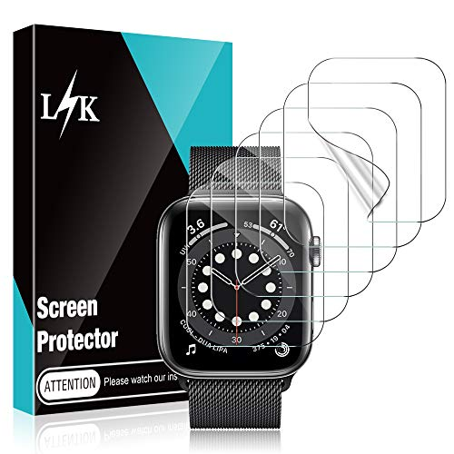 LϟK 6 Pack Screen Protector for Apple Watch 40mm Series 6/5/4/SE, HD Clear Flexible Premium TPU...