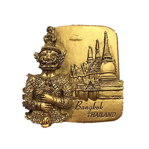 Bella Magneti per FrigoriferoCalamite da Frigo in Resina Viaggio Souvenir Tailandia Bangkok Grand Palace Buddha d'oro Fridge Magnet Sticker
