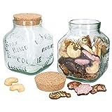 MamboCat Weihnachts Cookie-Glas XL I 2er Set I Keksdose + Naturkork-Deckel I 3,1 Liter I...