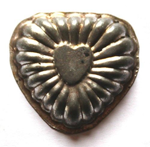 Antiquitäten - antike Backform, Verzierung, Schokoladenform - Herz (189)