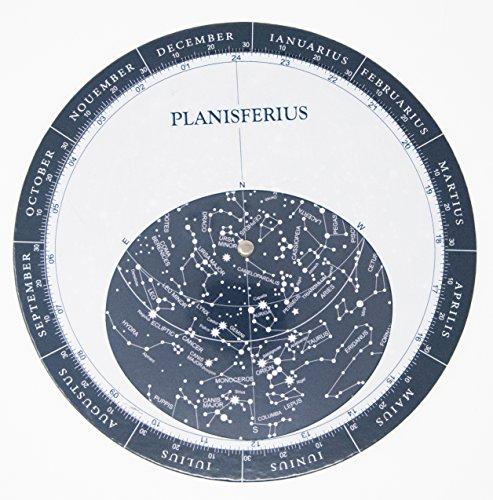 Melquiades–Planisfero con calendario rotatorio–Mappa stellare–Cartone di alto spessore e finitura Lucido Satinato Que aporta Cierta Resistenza all' usura e spruzzi
