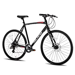 MADE IN TAIWAN. Matte aluminum frame, plus with mechanical DISC-brake design.It's easy to accessorize with racks, a kickstand, fenders, lights, and more! Road bike speed and hybrid bike versatility. SHIMANO 24(gears) speeds change system provide a st...