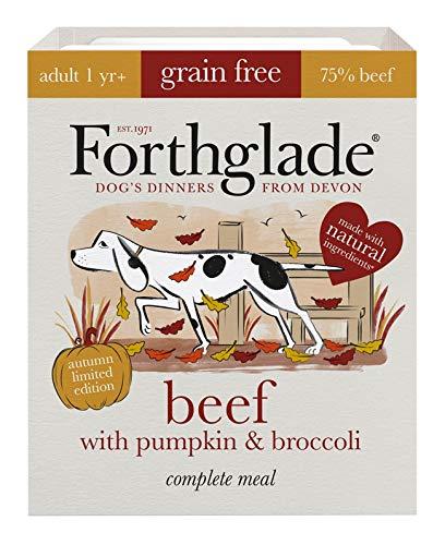 Forthglade Autumn Complete Adult Beef, Pumpkin & Broccoli Grain Free Wet Dog Food 395g (Pack of 7)