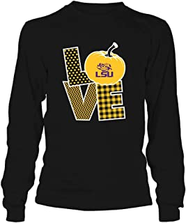 FanPrint LSU Tigers T-Shirt - Love Life - Pumpkin - Team