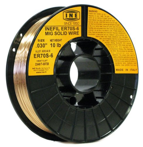 INEFIL ER70S-6 .030-Inch on 10-Pound Spool Carbon Steel Mig Solid Welding Wire. Buy it now for 30.99
