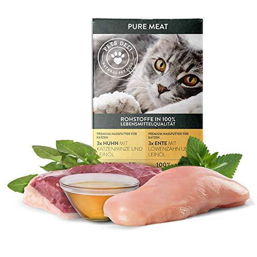 Nassfutter Katze Huhn & Ente 6 x 85 g | Vorteilspackung